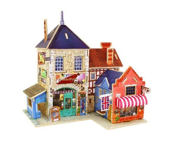 Детская игрушка настольная сборная модель домика PT0038 Dolemikki, фото 1
