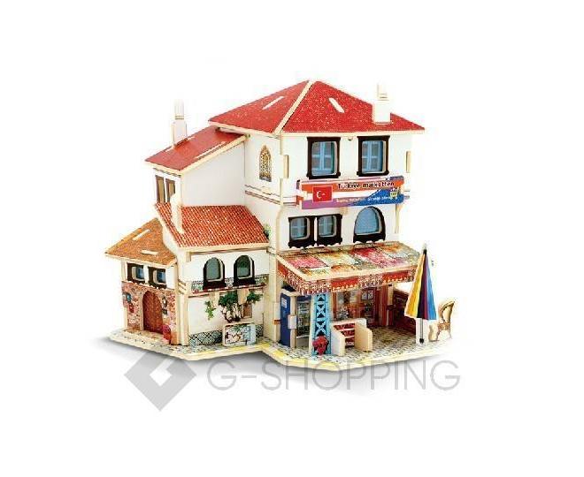 """Сборная деревянная модель дома из серии """"Турция"""" PT0040 Dolemikki, фото 1"""