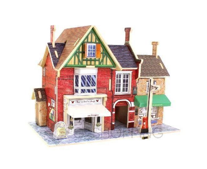 """Детская настольная игрушка сборная модель пазл """"Домик с магазинчиком"""" PT0043 Dolemikki, фото 1"""
