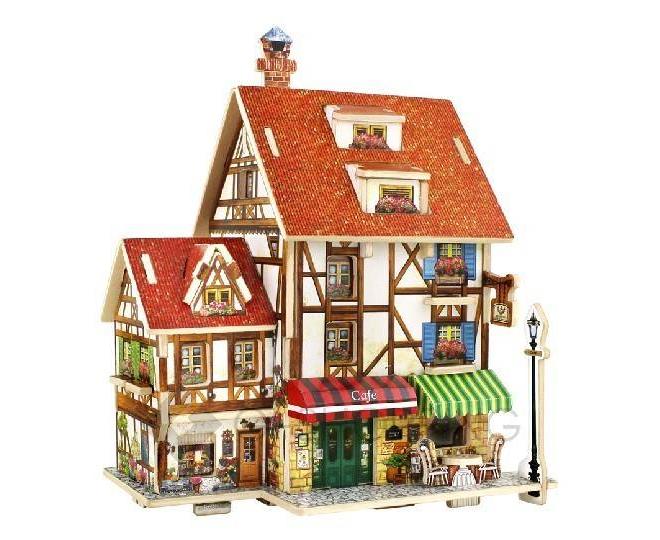 """Сборная деревянная модель дома из серии """"Франция"""" PT0045 Dolemikki, фото 1"""