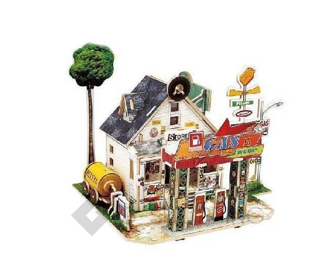 """Сборная деревянная модель дома из серии """"Америка"""" PT0047 Dolemikki, фото 1"""