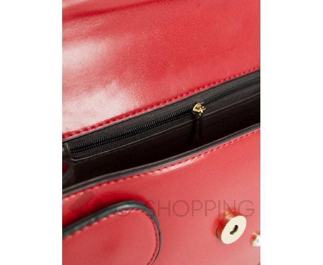 Сумка женская красная на цепочке B621-08, фото 5