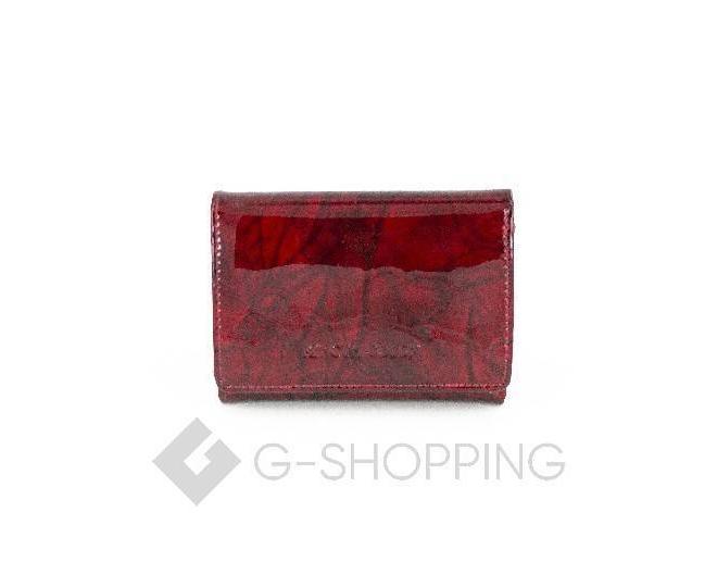 Женский красный лаковый мини-кошелек WP13-116-1 KINGTH GOLDN, фото 1
