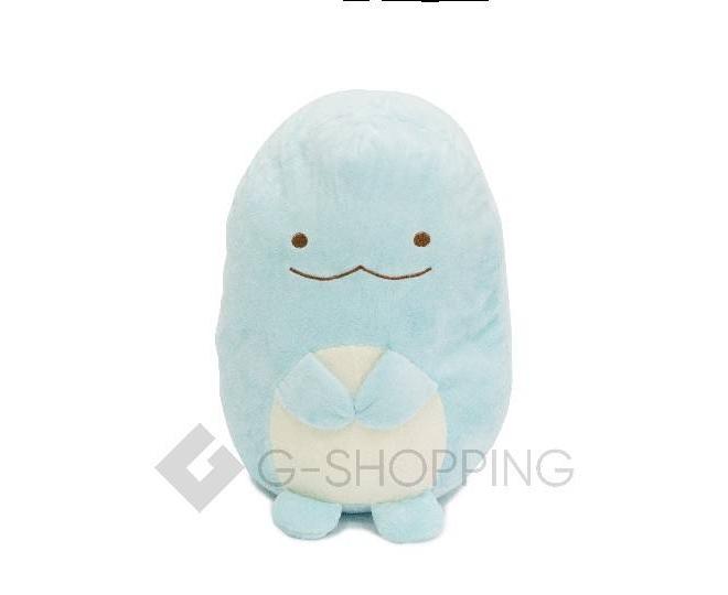 Мягконабивная игрушка-подушка Динозаврик голубого цвета, фото 1