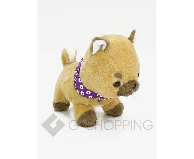Детская мягкая игрушка песочная щеночек с фиолетовой банданой, фото 2