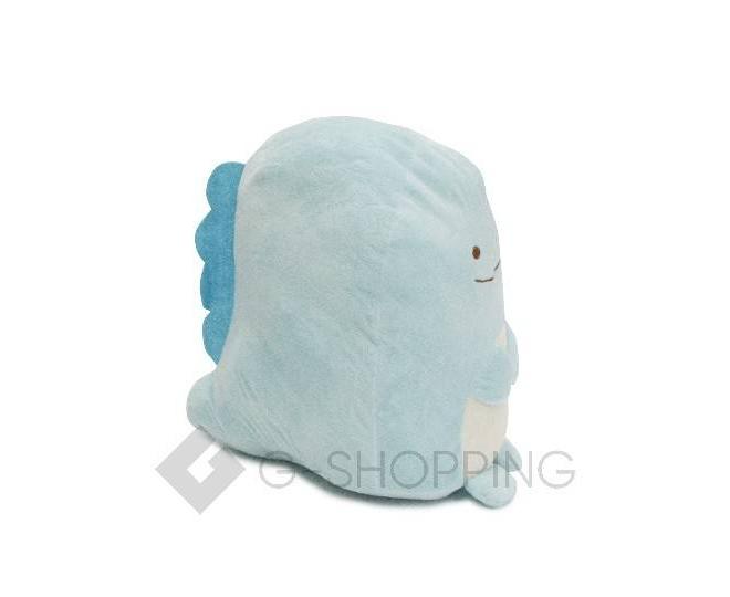 Мягконабивная игрушка-подушка Динозаврик голубого цвета, фото 2
