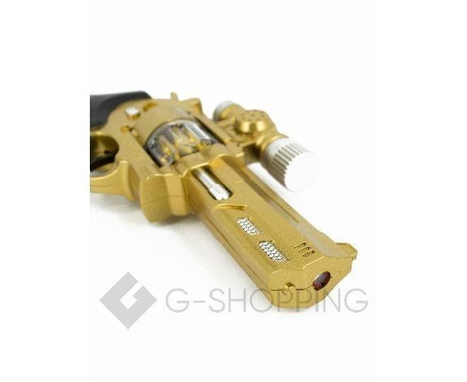 Пластиковый свето-звуковой игрушечный пистолет Dolemikki золотистый, фото 2