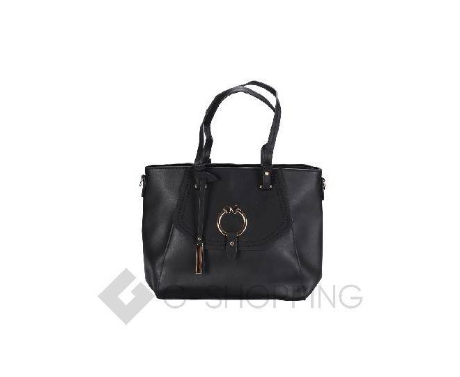 Черная сумка на молнии, фото 2