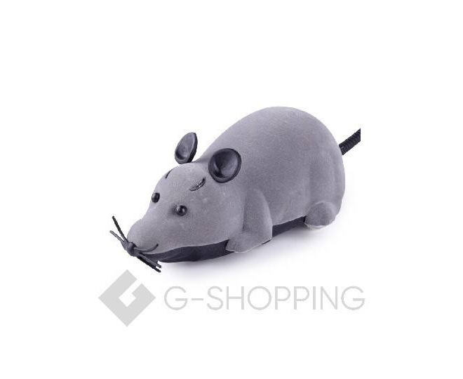 Мышка на радиоуправлении для домашних питомцев серая, фото 1