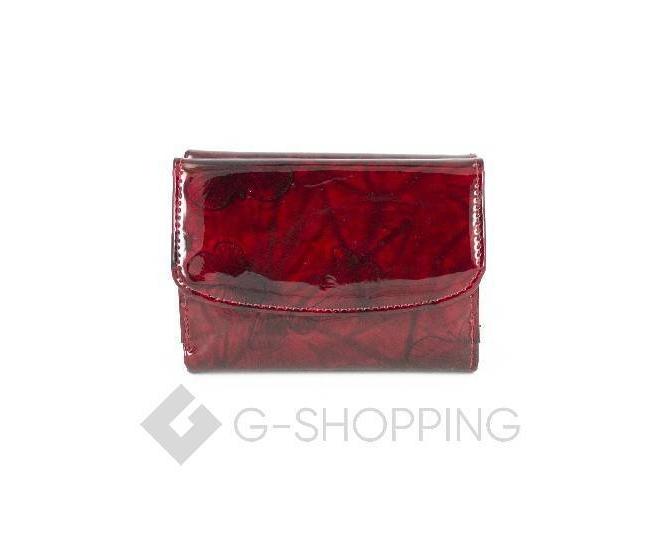 Женский красный лаковый мини-кошелек WP13-116-1 KINGTH GOLDN, фото 2