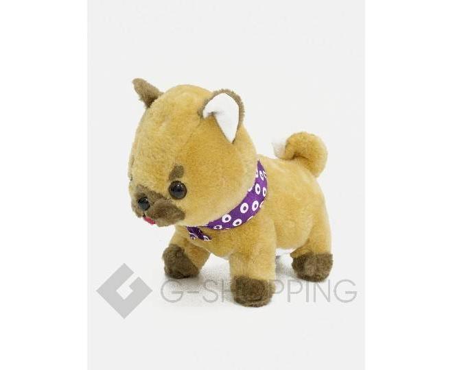 Детская мягкая игрушка песочная щеночек с фиолетовой банданой, фото 1