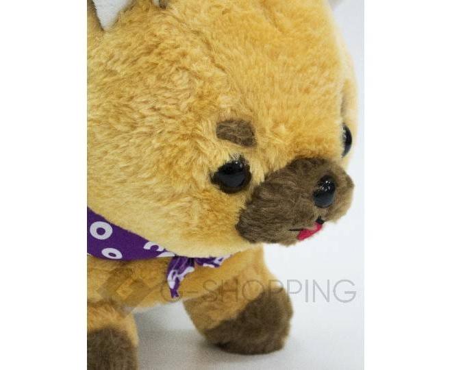 Детская мягкая игрушка песочная щеночек с фиолетовой банданой, фото 3