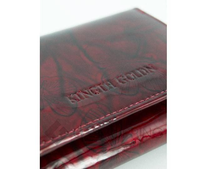 Женский красный лаковый мини-кошелек WP13-116-1 KINGTH GOLDN, фото 3