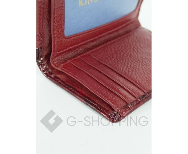 Женский красный лаковый мини-кошелек WP13-116-1 KINGTH GOLDN, фото 4