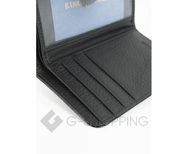 Кошелек из черной лакированной кожи с тиснением под рептилию KINGTH GOLDN, фото 4