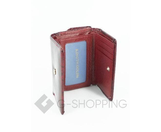 Женский красный лаковый мини-кошелек WP13-116-1 KINGTH GOLDN, фото 5