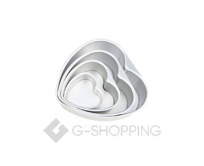 Форма для выпекания в форме сердца из плотного алюминиевого сплава, фото 1