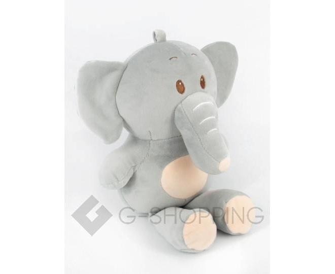 """Детская мягкая игрушка """"Слоник"""" серый, фото 1"""