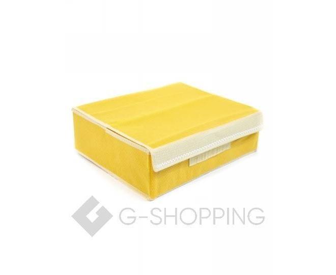 Текстильный органайзер для хранения нижнего белья желтый, фото 1