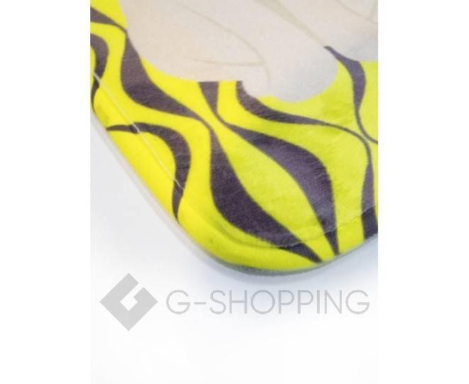 """Антискользящий влагопоглощающий напольный желтый коврик """"Кошки"""" R012-J-S, фото 2"""