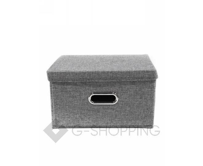 Льняной ящик для хранения вещей серый RYP104-S, фото 2
