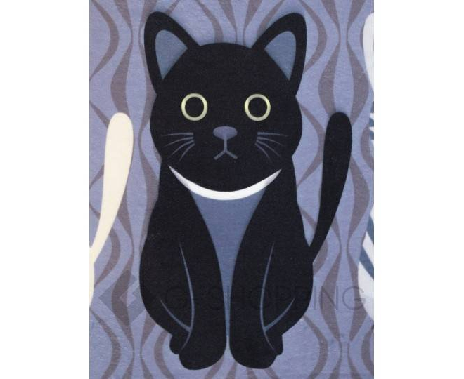 """Антискользящий влагопоглощающий напольный коврик """"Кошки"""" R012-A-S, фото 2"""