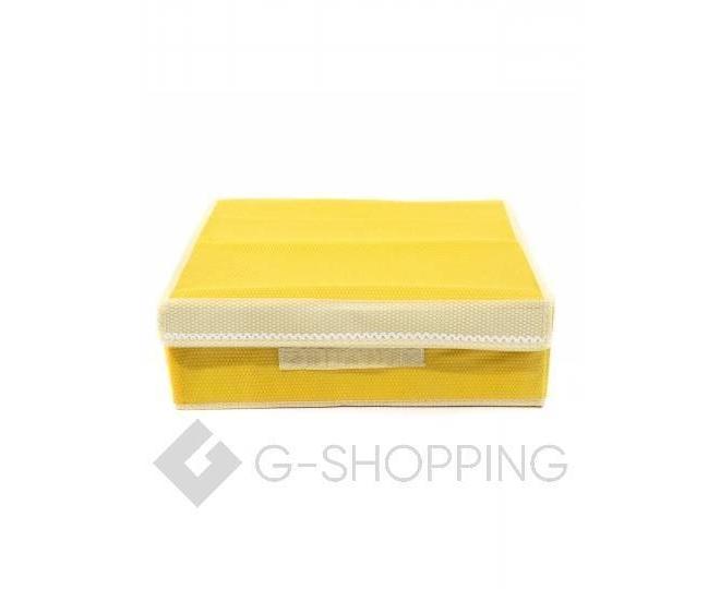 Текстильный органайзер для хранения нижнего белья желтый, фото 2