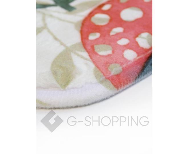 """Антискользящий влагопоглощающий напольный коврик """"Кролик и цветы"""" R012-T-L, фото 2"""