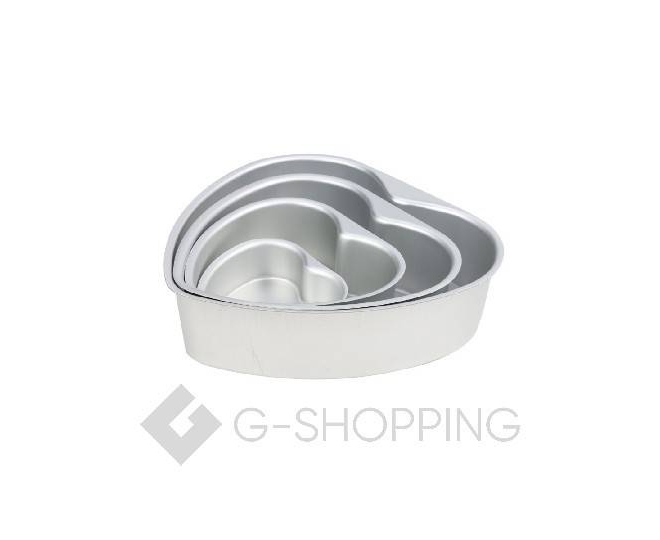 Форма для выпекания в форме сердца из плотного алюминиевого сплава, фото 2