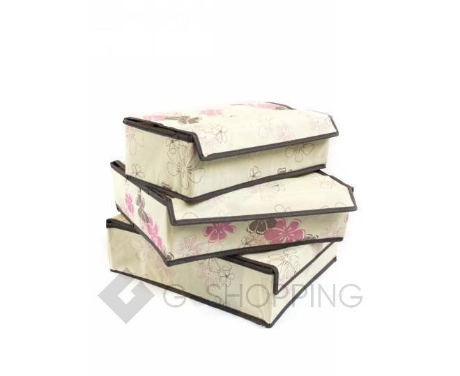 Комплект из трех текстильных органайзеров для хранения нижнего белья RYP99-03, фото 2