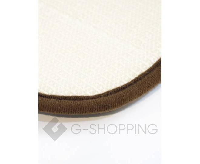 Антискользящий напольный коврик из кораллового флиса коричневый 18㎡, фото 3