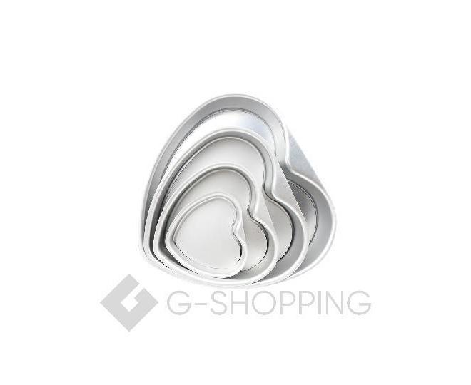 Форма для выпекания в форме сердца из плотного алюминиевого сплава, фото 3