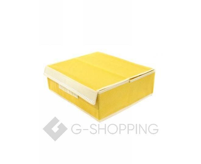 Текстильный органайзер для хранения нижнего белья желтый, фото 3