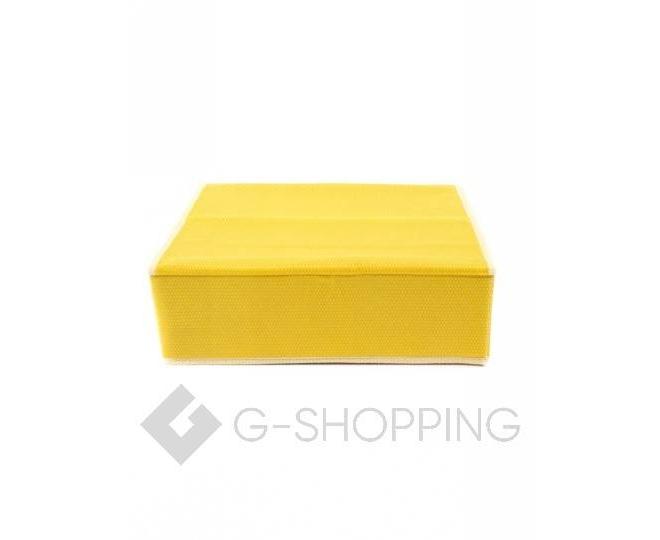 Текстильный органайзер для хранения нижнего белья желтый, фото 4
