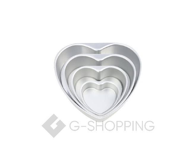 Форма для выпекания в форме сердца из плотного алюминиевого сплава, фото 4