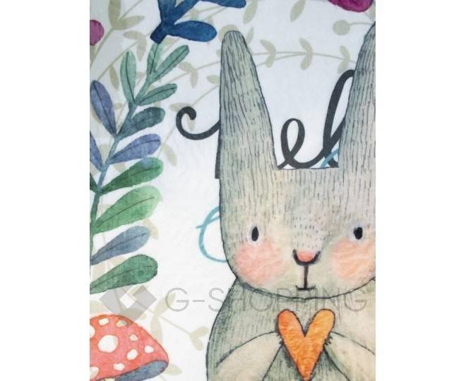 """Антискользящий влагопоглощающий напольный коврик """"Кролик и цветы"""" R012-T-S, фото 4"""