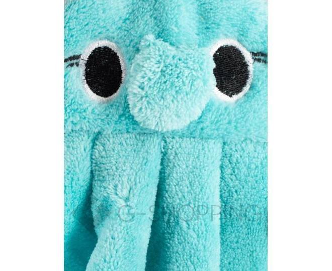 """Детское полотенце для рук """"Слоник""""  из кораллового флиса с крючком, фото 5"""