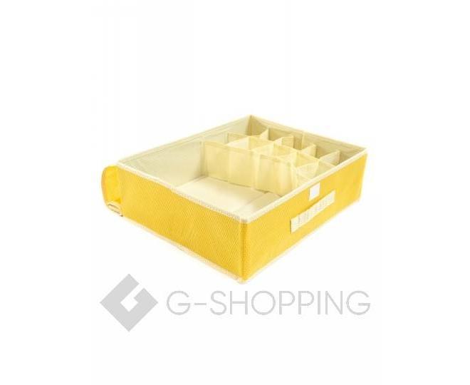 Текстильный органайзер для хранения нижнего белья желтый, фото 5