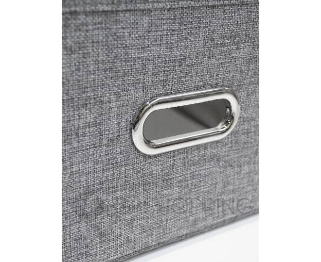 Льняной ящик для хранения вещей серый RYP104-S, фото 5