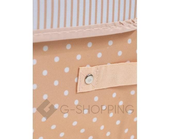 Объемный текстильный ящик для хранения с 2мя отсеками розовое шампанское, фото 5