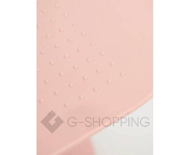 Регулируемая пластиковая подставка для обуви светло-розовая, фото 5