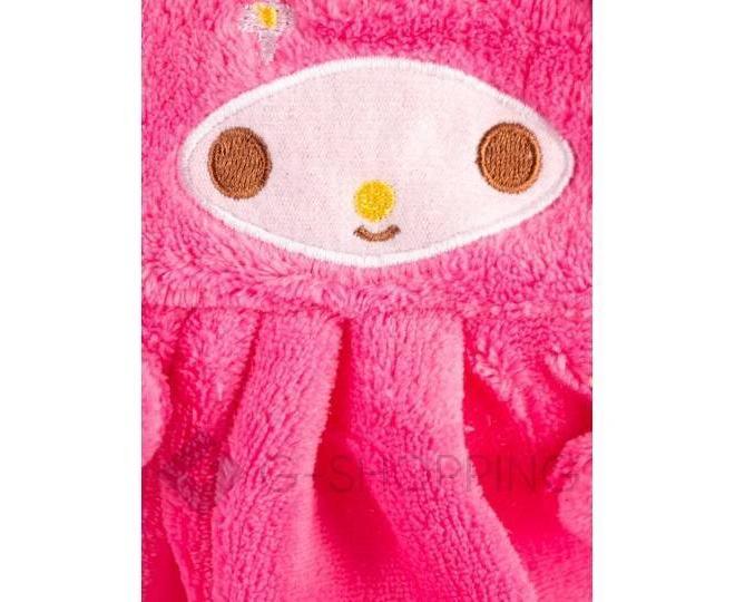Детское ярко-розовое полотенце для рук из кораллового флиса с мультяшным изображением, фото 6