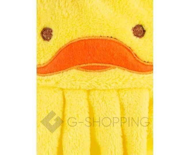 """Детское  полотенце для рук """"Утенок"""" из кораллового флиса с крючком, фото 6"""