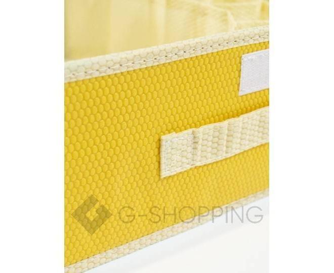 Текстильный органайзер для хранения нижнего белья желтый, фото 6
