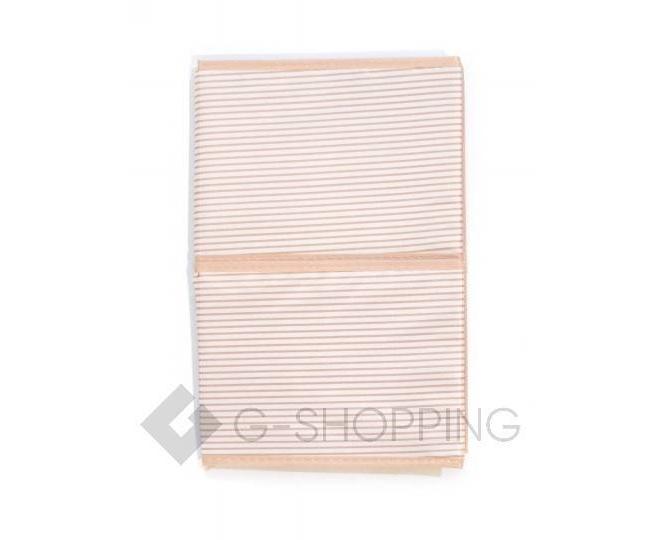 Объемный текстильный ящик для хранения с 2мя отсеками розовое шампанское, фото 7