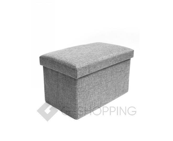 Стильное сиденье с ящиком для хранения из текстиля табурет-ящик, фото 1
