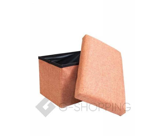 Стильное сиденье с ящиком для хранения из текстиля оранжевый, фото 1