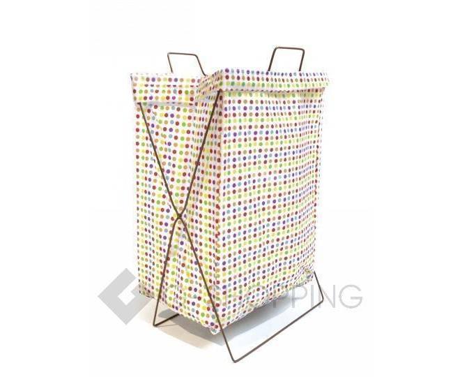Складная корзина из хлопковой ткани для хранения игрушек/белья RYP80-B, фото 1