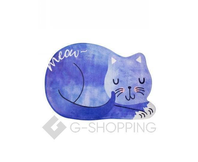 """Антискользящий влагопоглощающий напольный коврик """"Спящая кошка"""" R012-B-L, фото 1"""