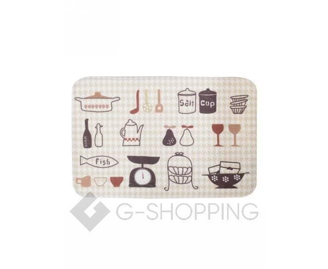 """Антискользящий влагопоглощающий напольный коврик """"Kitchen"""" R012-U-L, фото 1"""
